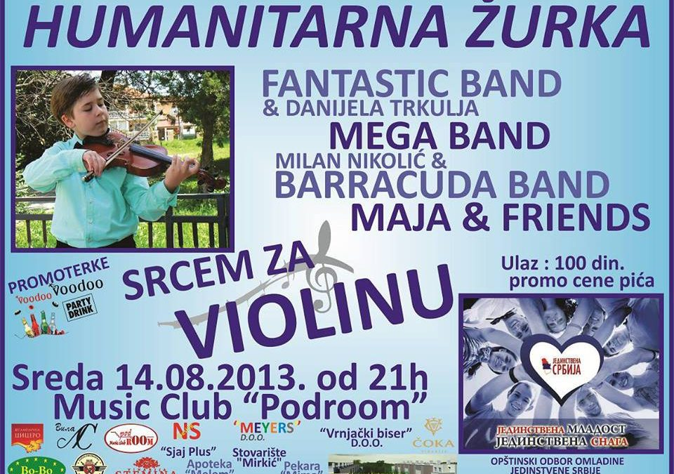 Humanitarni koncert 14.avgusta u Music club-u Podroom